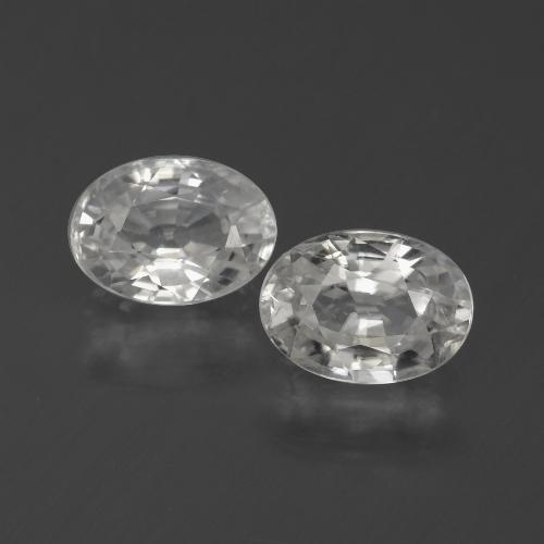 1.2ct Oval Facet White Zircon Gem (ID: 440594)