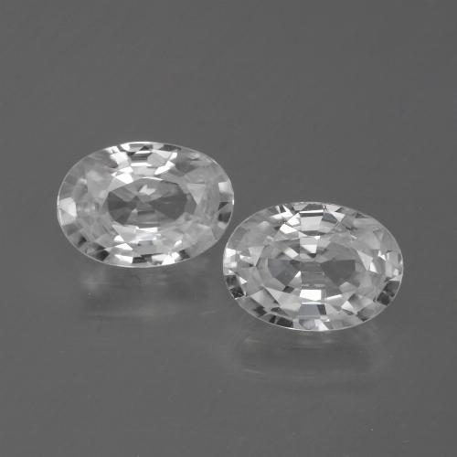 1.2ct Oval Facet White Zircon Gem (ID: 440635)