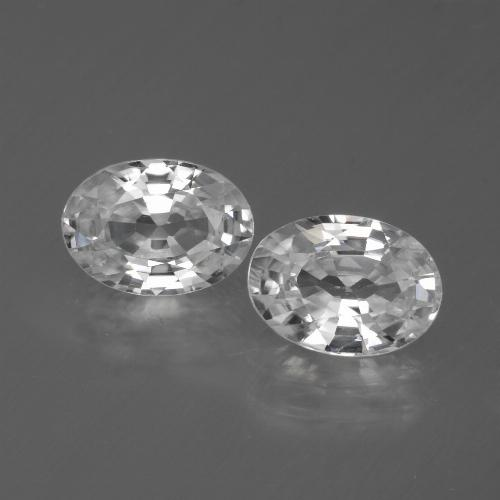 1.3ct Oval Facet White Zircon Gem (ID: 440637)