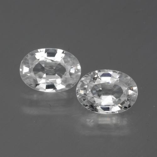 White Zircon Gem - 1.3ct Oval Facet (ID: 440641)