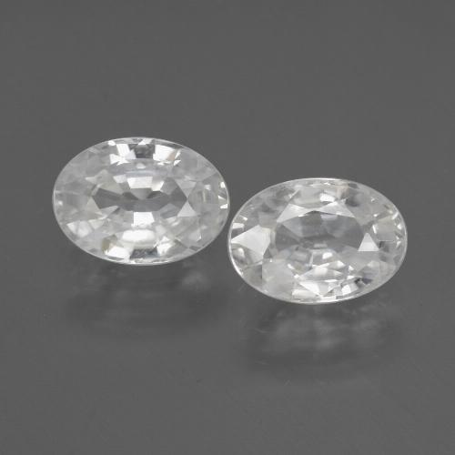 1.2ct Oval Facet White Zircon Gem (ID: 440673)