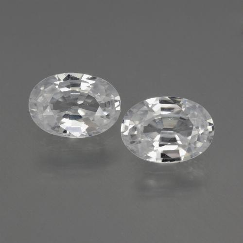 1.1ct Oval Facet White Zircon Gem (ID: 440674)