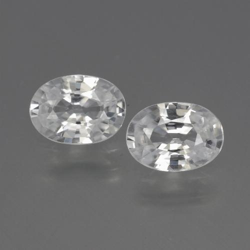 1.1ct Oval Facet White Zircon Gem (ID: 440675)