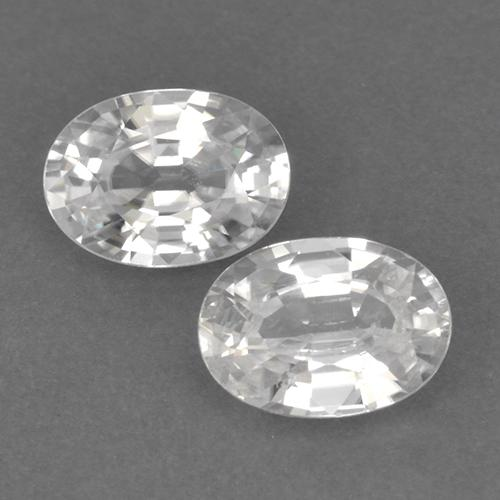 White Zircon Gem - 1.2ct Oval Facet (ID: 440677)