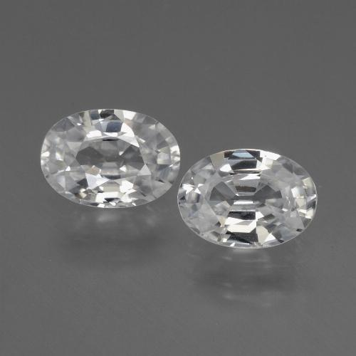 1.2ct Oval Facet White Zircon Gem (ID: 440679)