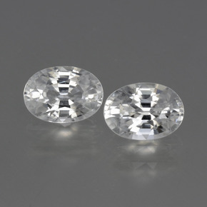 1.3ct Oval Facet White Zircon Gem (ID: 440681)