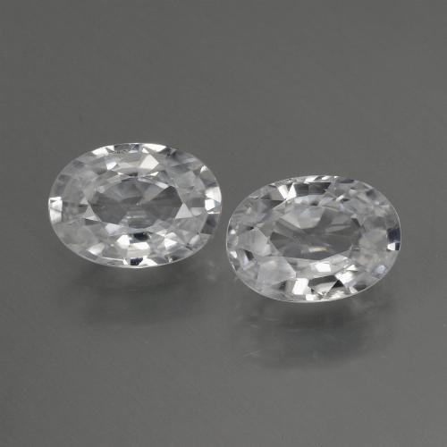 1.2ct Oval Facet White Zircon Gem (ID: 440682)