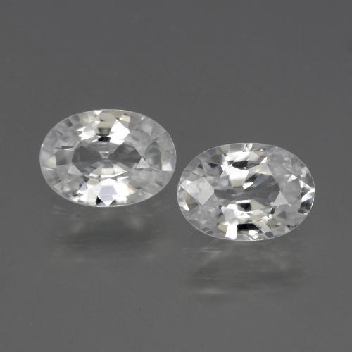 1.1ct Oval Facet White Zircon Gem (ID: 440683)