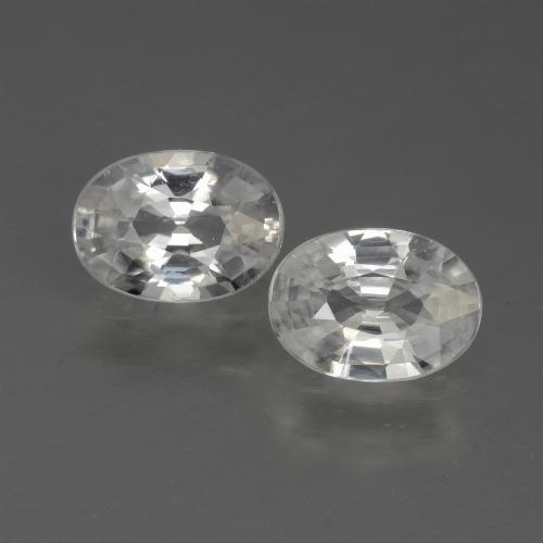 1.2ct Oval Facet White Zircon Gem (ID: 440723)