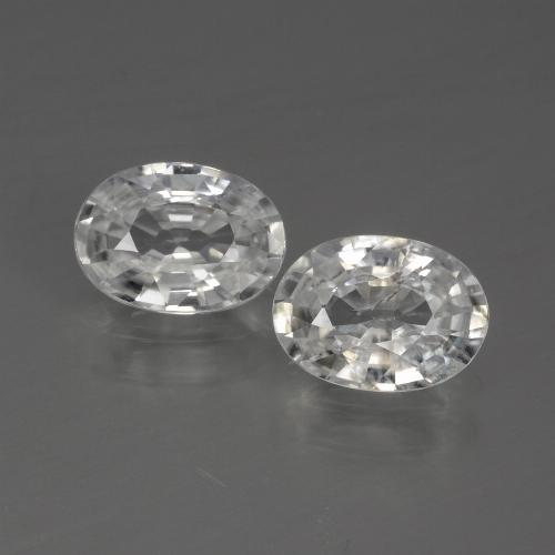 1.2ct Oval Facet White Zircon Gem (ID: 440772)
