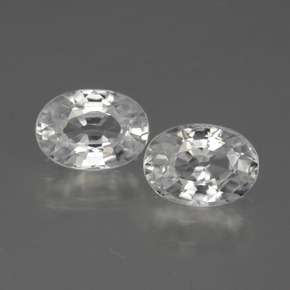 1.3ct Oval Facet White Zircon Gem (ID: 440773)