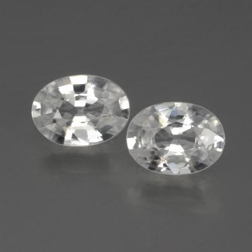 White Zircon Gem - 1.1ct Oval Facet (ID: 440774)