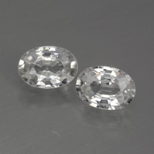 White Zircon Gem - 1.2ct Oval Facet (ID: 440775)