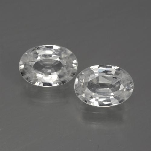 White Zircon Gem - 1.1ct Oval Facet (ID: 440778)