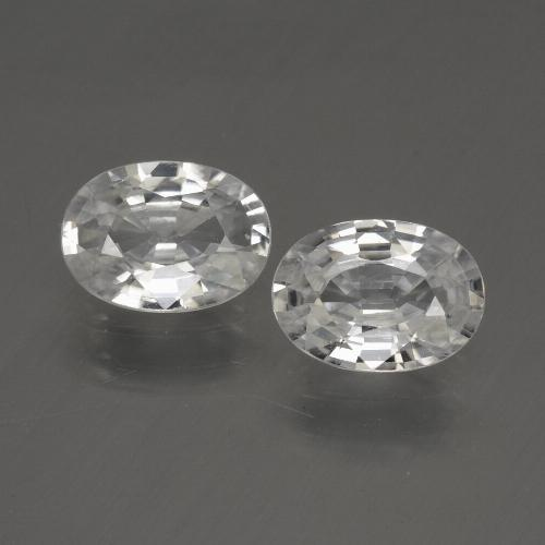 White Zircon Gem - 1.1ct Oval Facet (ID: 440806)