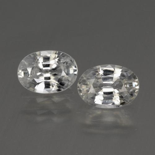1.3ct Oval Facet White Zircon Gem (ID: 440809)