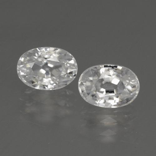 1.5ct Oval Facet White Zircon Gem (ID: 440813)