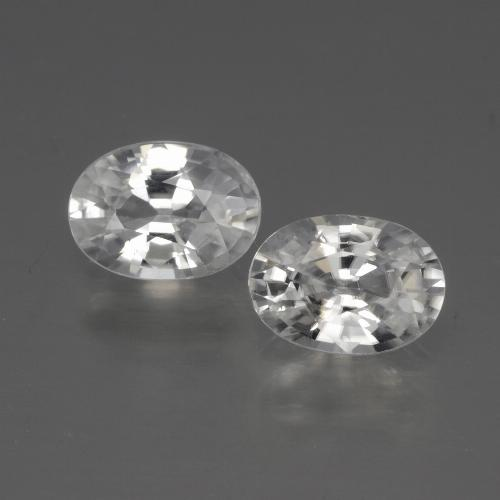 1.2ct Oval Facet White Zircon Gem (ID: 440850)