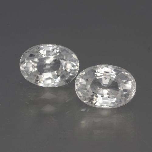 White Zircon Gem - 1.4ct Oval Facet (ID: 440851)