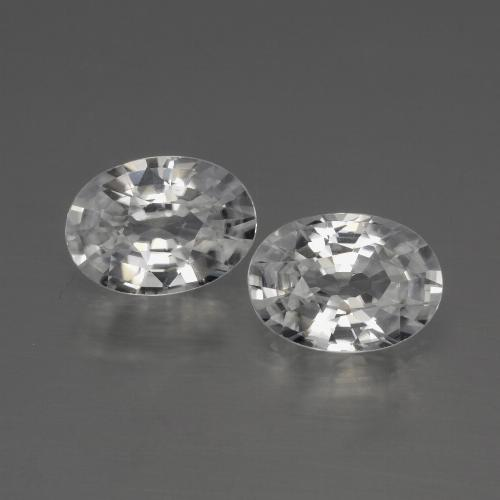1.2ct Oval Facet White Zircon Gem (ID: 440852)