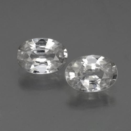 White Zircon Gem - 1.2ct Oval Facet (ID: 441061)