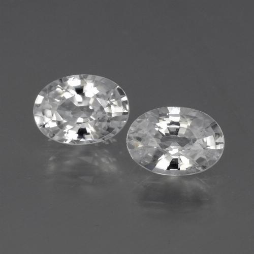 White Zircon Gem - 1.2ct Oval Facet (ID: 441062)