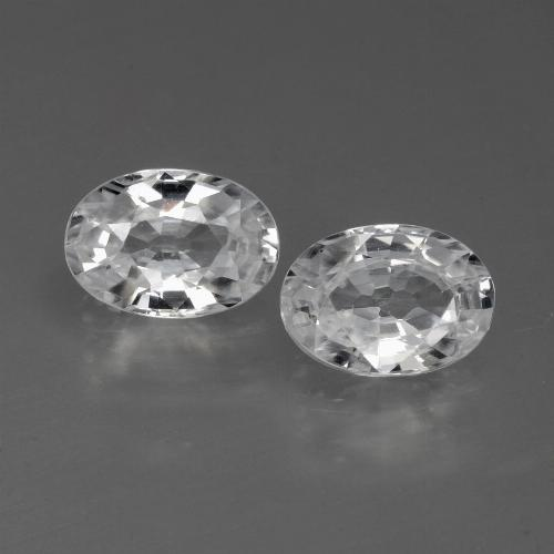 1.2ct Oval Facet White Zircon Gem (ID: 441065)
