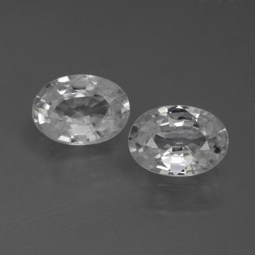 1.2ct Oval Facet White Zircon Gem (ID: 441067)
