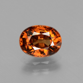 2ct Oval Facet Golden Orange Zircon Gem (ID: 441124)