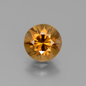 Marrón-oro Circón Gema - 2.6ct Corte Diamante (ID: 442076)