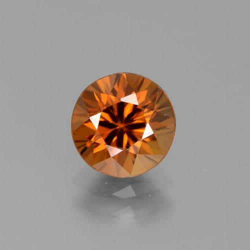 2.3ct Diamond-Cut Medium Orange Zircon Gem (ID: 442077)