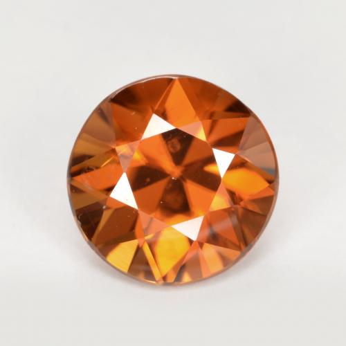 2ct Diamond-Cut Deep Orange Zircon Gem (ID: 442079)