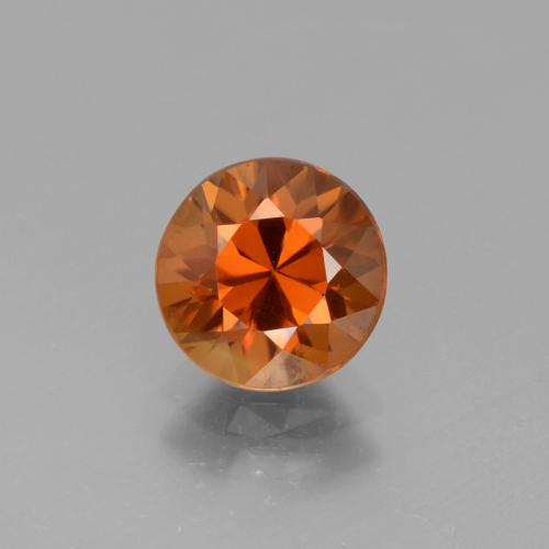2.4ct Diamond-Cut Deep Orange Zircon Gem (ID: 442080)