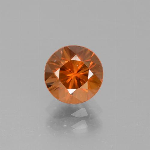 2.1ct Diamond-Cut Medium Orange Zircon Gem (ID: 442081)