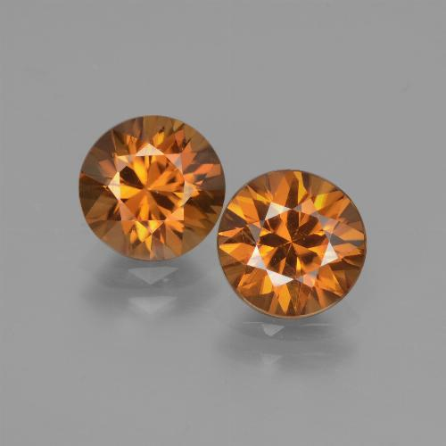 1.9ct Diamond-Cut Medium Orange Zircon Gem (ID: 442154)