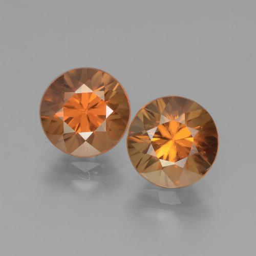 2ct Diamond-Cut Yellowish Orange Zircon Gem (ID: 442157)
