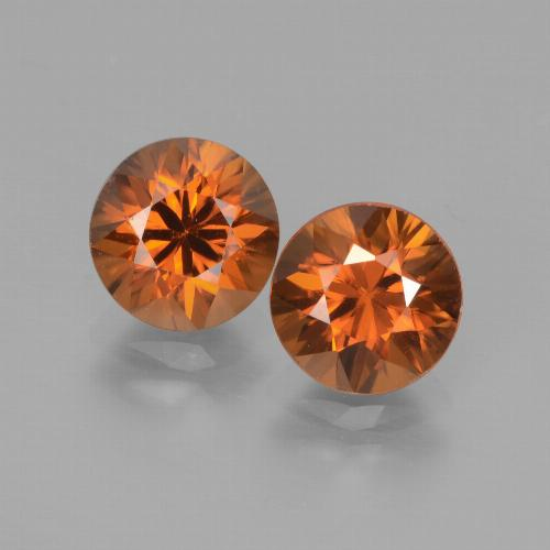 2ct Diamond-Cut Deep Orange Zircon Gem (ID: 442159)