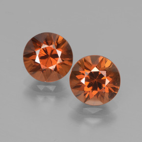 2ct Diamond-Cut Deep Orange Zircon Gem (ID: 442160)