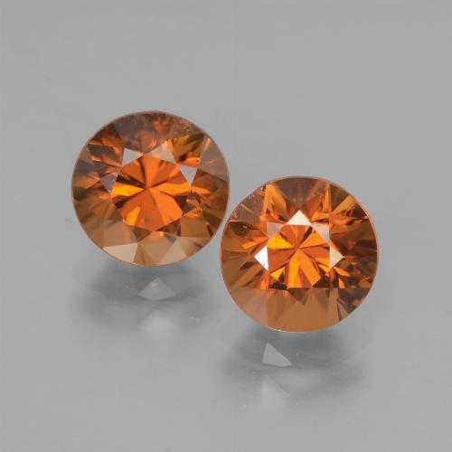 2ct Diamond-Cut Medium Orange Zircon Gem (ID: 442162)