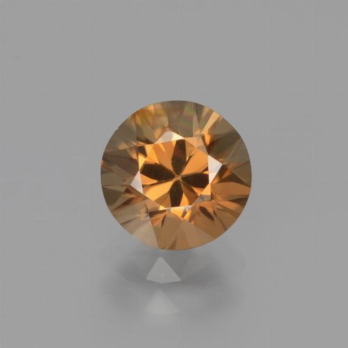 1.8ct Diamond-Cut Medium Orange Zircon Gem (ID: 442215)