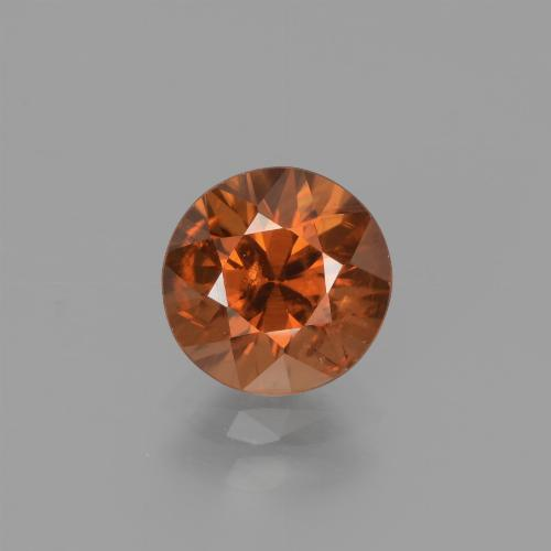 1.8ct Diamond-Cut Deep Orange Zircon Gem (ID: 442217)