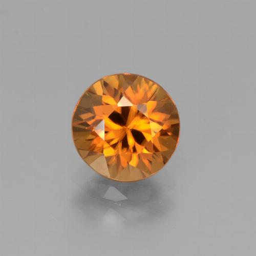 1.9ct Diamond-Cut Earthy Orange Zircon Gem (ID: 442221)