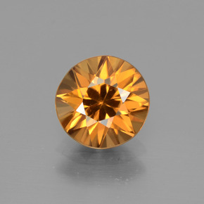 2.1ct Diamond-Cut Medium Orange Zircon Gem (ID: 442311)