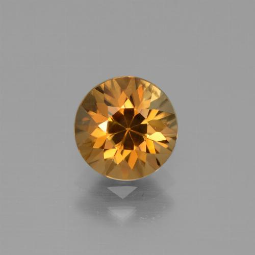 2.2ct Diamond-Cut Deep Orange Zircon Gem (ID: 442312)