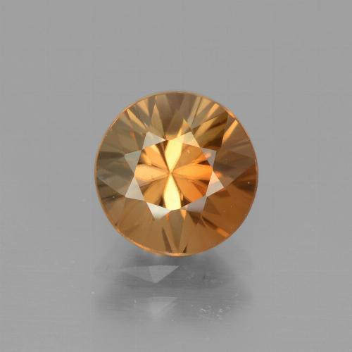2.4ct Diamond-Cut Deep Orange Zircon Gem (ID: 442314)