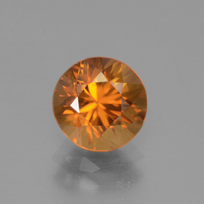 2.5ct Diamond-Cut Dark Orange Zircon Gem (ID: 442316)