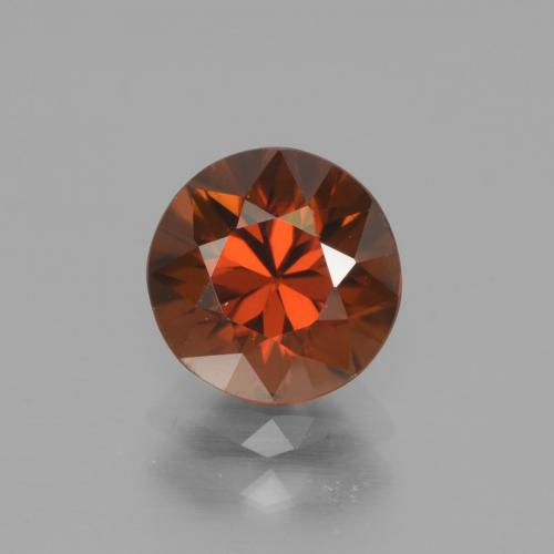 2.3ct Diamond-Cut Deep Orange Zircon Gem (ID: 442318)