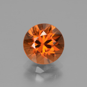 2.5ct Diamond-Cut Medium-Dark Orange Zircon Gem (ID: 442319)