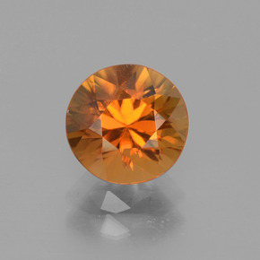2.6ct Diamond-Cut Deep Orange Zircon Gem (ID: 442320)