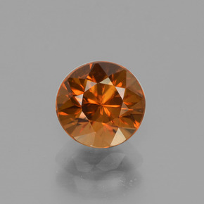 2.2ct Diamond-Cut Deep Orange Zircon Gem (ID: 442321)